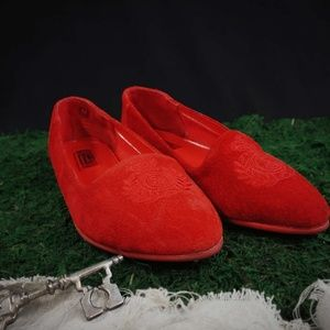 Shoes - Red leather flats!